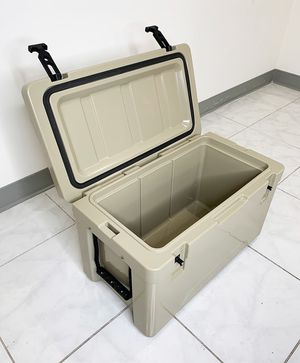 "New $70 Heavy-Duty Ice Box Cooler w/ Cup Holder & Carry Handle 24""x13""x15"" for Sale in Whittier, CA"