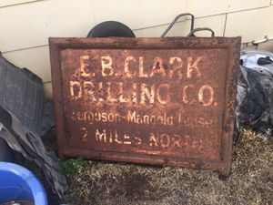 E.B Clark Drilling sign for Sale in Wichita Falls, TX