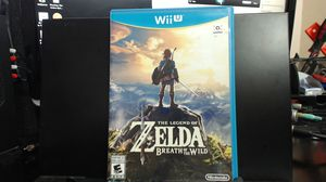 The Legend of Zelda Breath of the Wild for Nintendo Wii U for Sale in Lake Elsinore, CA