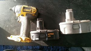 Dewalt 18v Impact wrench batteries and charger for Sale in Chicago, IL