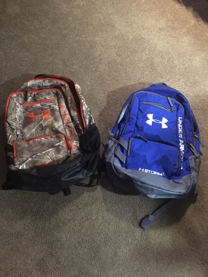 UnderArmour backpacks $20 each for Sale in Reynoldsburg, OH