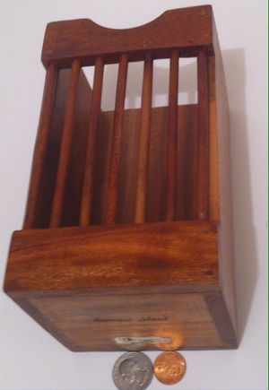 Vintage Wooden Hardwood Utensil Holder, Kamani Wood, 7 x 4 x 4, Kitchen Decor, Table Display, Shelf Display, Quality Wood for Sale in Lakeside, CA