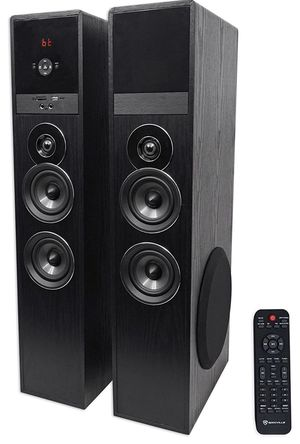 """Rockville TM80B Black Home Theater System Tower Speakers 8"""" Bluetooth for Sale in Newark, NJ"""