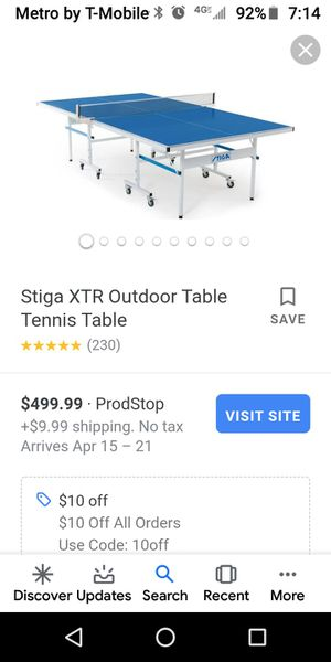 Outdoor ping pong table, made with aluminum for Sale in Phoenix, AZ