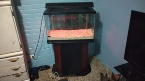 A very good fish tank with color lights it got every thing it don't got is a filter for Sale in Houston, TX