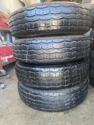 4 used tires ST235/80r16 10ply for trailer for Sale in San Marcos, CA