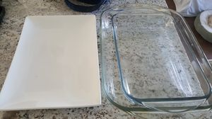 Pyrex and serving plate for Sale in Port St. Lucie, FL