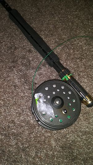 Apollo fly fishing fish rod pole and bait caster for Sale in Phoenix, AZ
