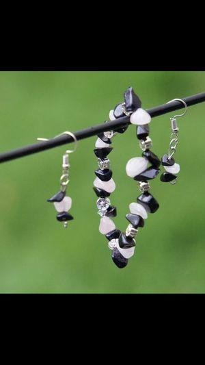 Crystal stone bracelet with ear rings for Sale in Warren, MI