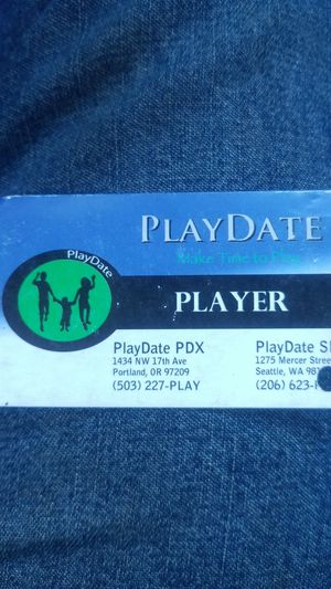 PlayDate PDX Punch card for Sale in Portland, OR