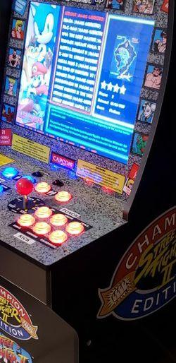 Custom Arcade1Up Street Fighter II Over 5000 Games for Sale in San Dimas,  CA