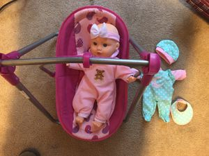Baby doll and accessories for Sale in Cypress, TX