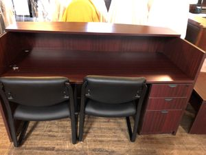 12 piece office furniture set with 5 chairs for Sale in Fairmont, WV