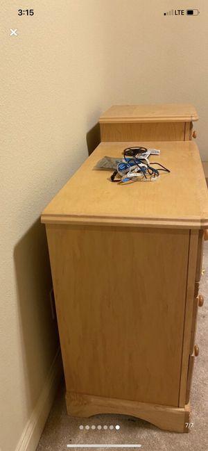 KIDS dresser, bed-frame, & mattress for Sale in Celina, TX