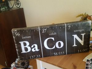Bacon periodic table kitchen sign for Sale in Concord, CA