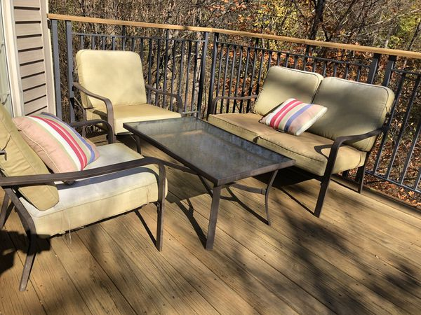 4 PC. Outdoor furniture set (1 table, 1 loveseat, 2 chairs)