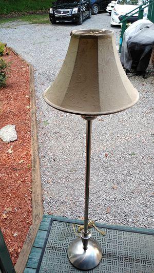 """Metal """"""""brushed nickel"""" floor lamp for Sale in Nashville, TN"""