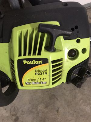 POULAN CHAINSAW P3314 33CC 14 inch for Sale in Pickerington, OH
