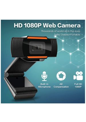 HD 1080P Webcam with Microphone, USB(2.0/3.0) Computer Camera for Live Streaming Webcam,110 Degrees Wide-Angle 30fps for Laptop, Noise Reduction Desk for Sale in Brooklyn, NY