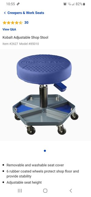 Kobalt Shop Stool with Magnetic Part Tray for Sale in Bremerton, WA