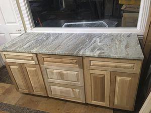 "Kitchen island 72""x 24"" wood 💯% Fantasy brown granite 3cm $250 linear feet for Sale in Houston, TX"