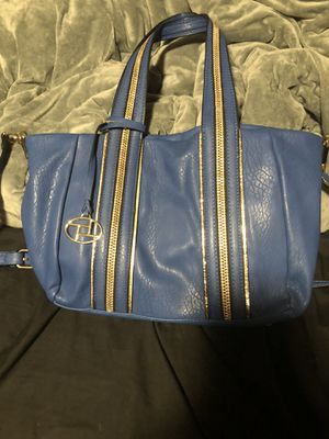 💙💛Blue crossbody bag with gold trim💛💙 for Sale in Modesto, CA