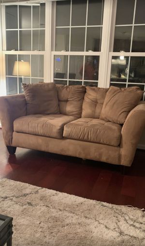 Suede Sofa and Love Seat for Sale in Fairfax, VA