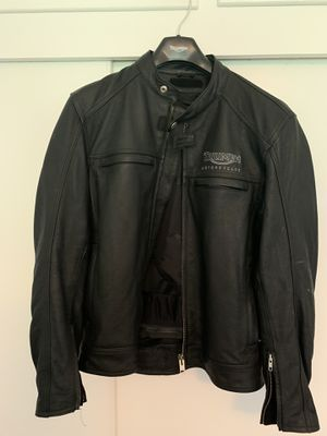 Triumph motorcycle leather jacket with armor. Size 42 for Sale in Monrovia, CA