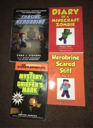 4x unofficial minecraft books for Sale in Huntington Park, CA