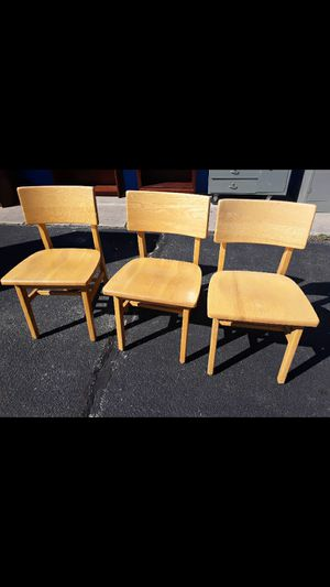 3 solid wood chairs for Sale in High Point, NC