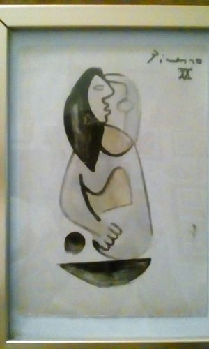 Picasso water color painting of a lady when sideways says pablo for Sale for sale  Fresno, CA