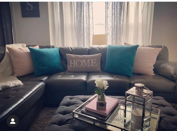 2 piece sectional couch leather from Ashley furniture