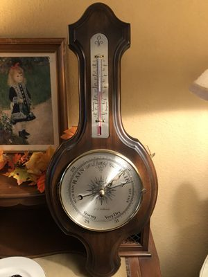 Antique vintage 12x29 wood and glass barometer. 35.00. 4211 south Lamar. Austin gift co. Booth 956d. 4211 south Lamar in the lake hills shopping cent for Sale in Austin, TX