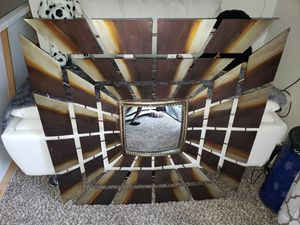 Wall hanging metal with mirror for Sale in Fresno, CA