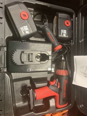 Taladro Snap on 18 v poco uso cargador 2 baterías en perfectas condiciones for Sale in Dallas, TX