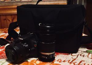 Canon Rebel t5 - 18-55mm 55-250mm lenses - camera bag for Sale in Carbondale, PA