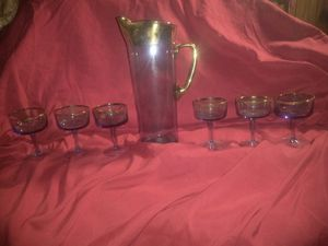 Antique pitcher and 6 glasses for Sale in Phoenix, AZ