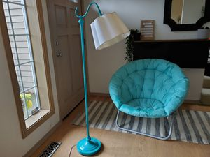 Turquoise floor lamp for Sale in Bothell, WA