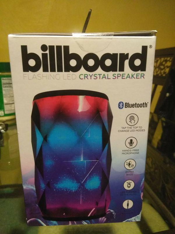 Billboard Bluetooth, flashing led crystal speaker  for Sale in Randolph, MA  - OfferUp