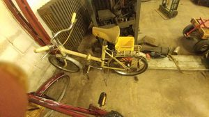 To fold up bikes the brown one is a Riley it has a problem with the center catch the bike faults the white one has no markings on it whatsoever for Sale in Bensalem, PA