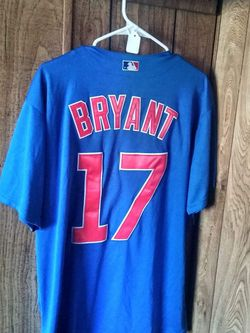 Sports Card With Kris Bryant Cubs Majestic Large Jersey for Sale in Galesburg,  IL