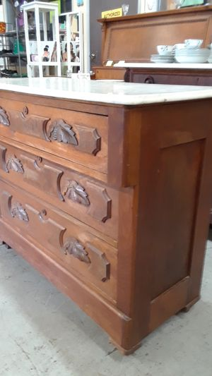 Antique hand carved marble top dresser for Sale in San Diego, CA