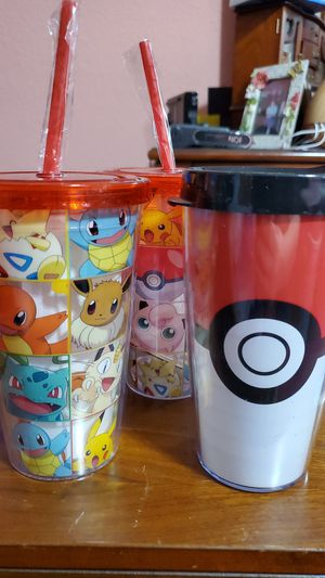 Pokemon travel tumblers- 3 for Sale in NEW PRT RCHY, FL