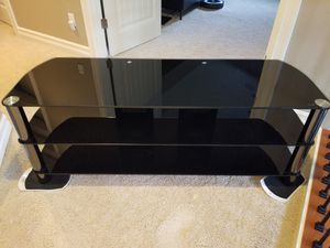 """TV stand - glass shelves - 57"""" x 19"""" x 22"""" tall for Sale in Renton, WA"""