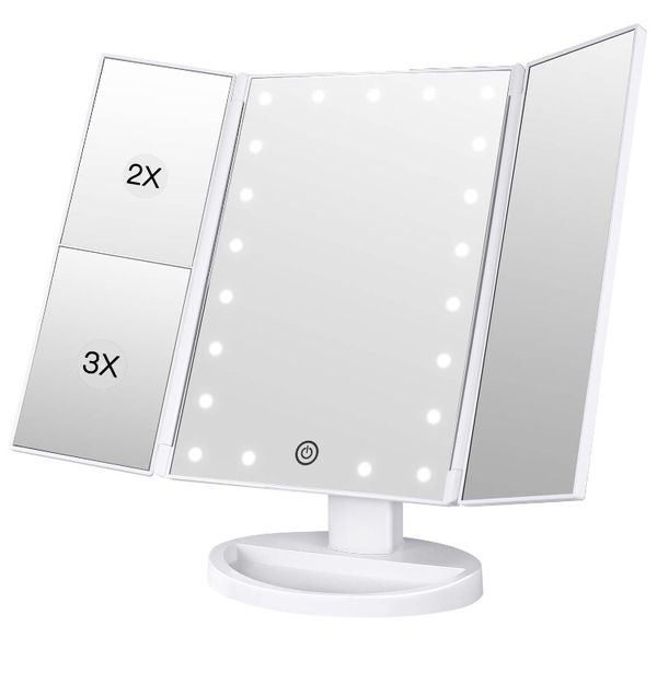 Makeup Vanity Mirror with Lights, 2X/3X Magnification-Brand New