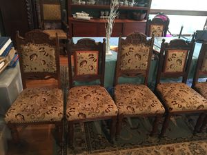 8 Antique Wood Carved Chairs for Sale in Redmond, WA