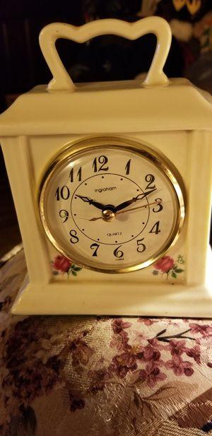 Vintage Rose Clock for Sale in Wichita, KS