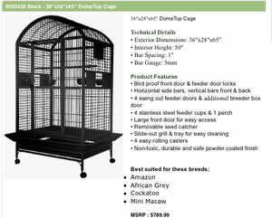 """Macaw cage brand new in box 36"""" top of the line for Sale in West Park, FL"""