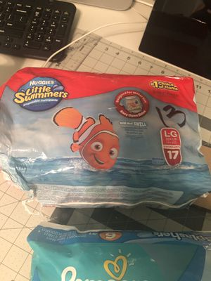 Swimming pull ups - Huggies lilttle swimmers 13 LG / Pampers Splashers SZ 6 16 for Sale in Las Vegas, NV