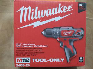 Milwaukee m12 Hammer Drill Driver Tool Only for Sale in Miami, FL